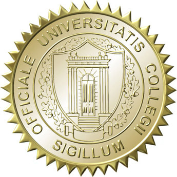 Acclaimed school fake college diploma seal